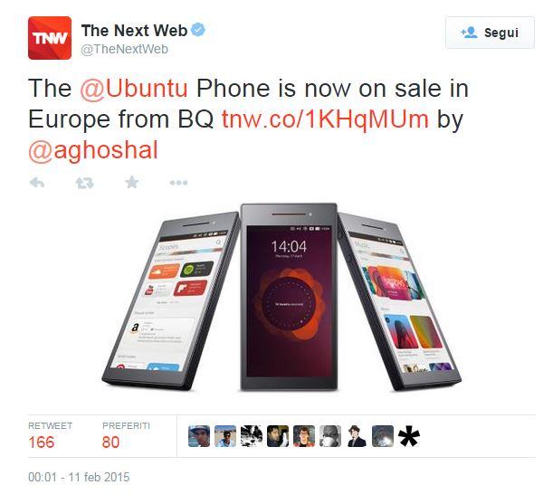 ubuntu phone in vendita