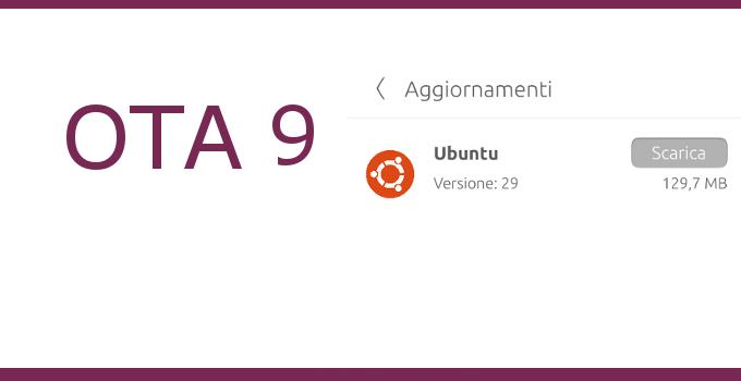 ubuntu phone ota 9 versione 29